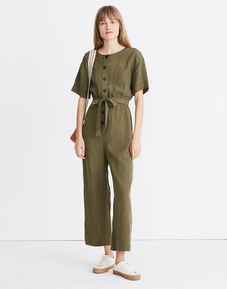 Madewell Short-Sleeve Belted Jumpsuit