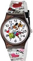 Disney Kids' W001252 Tween Minnie and Daisy Plastic Watch, Analog Display, Analog Quartz, Multi-Color Watch