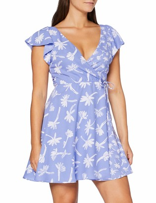 French Connection Women's Arabella Crepe PRNTD WRP Dress Business Casual