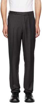 Ermenegildo Zegna Purple Wool and Silk Trousers