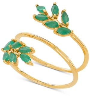 Macy's Emerald Coil Statement Ring (9/10 ct. t.w.) in 14k Gold