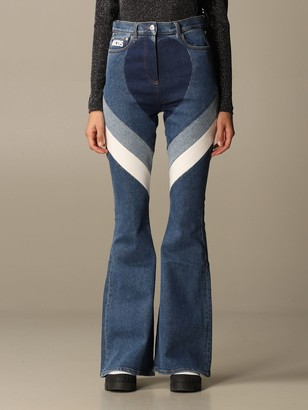 GCDS Heart Jeans In Denim With Bands
