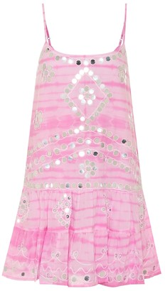 Juliet Dunn Exclusive to Mytheresa Embellished cotton minidress