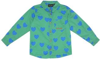Mini Rodini Hearts printed cotton shirt