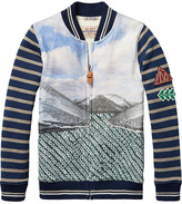 Scotch & Soda Photo Printed Varsity Jacket