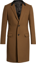 Lanvin Contrast-collar single-breasted coat