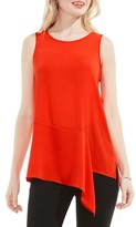 Vince Camuto Women's Mixed Media Drape Front Top