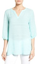 Chaus Women's Crinkle Split Neck Top
