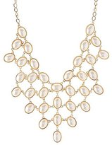 Charlotte Russe Polished Stone Bib Necklace