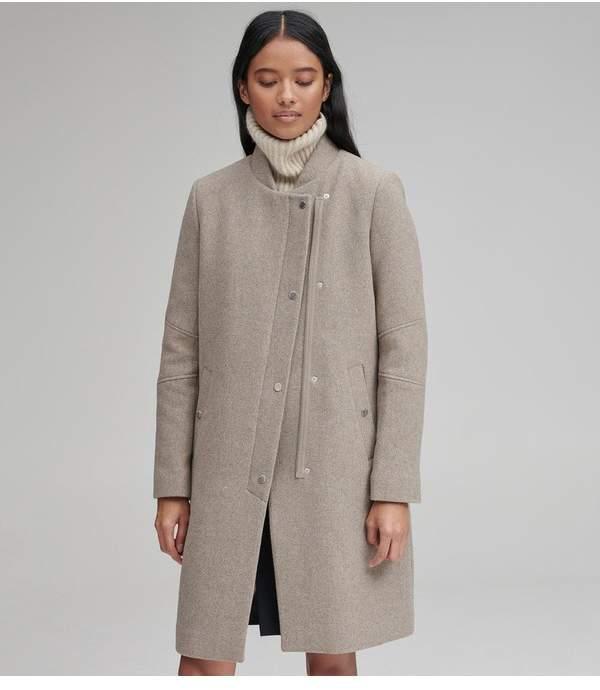 Andrew Marc Emerson Mixed Media Wool Coat