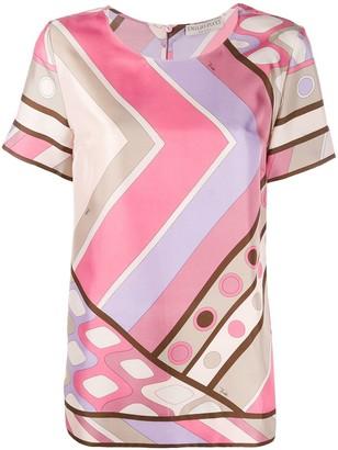 Emilio Pucci geometric print silk T-shirt