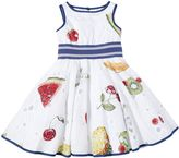 MonnaLisa Fruit Printed Cotton Muslin Dress