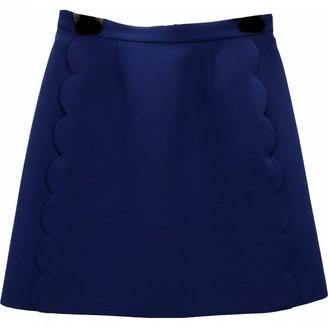 Valentino Blue Wool Skirt for Women