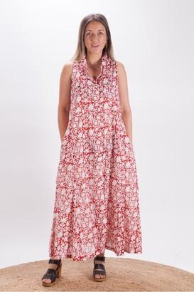 Dream Red Safari Dress - Large