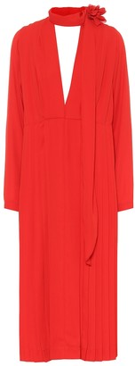 Victoria Beckham Pleated chiffon dress