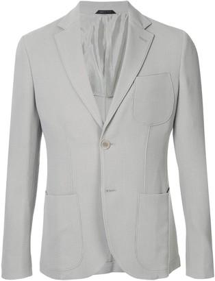 Giorgio Armani Ribbed Knit Blazer Jacket