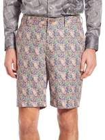 Robert Graham Lake Havasu Paisley Printed Linen Shorts