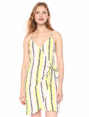 Cupcakes And Cashmere Women's Rhea Printed Crepe wrap Shift Dress