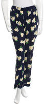 Michael Kors Floral Silk Pants