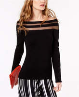 INC International Concepts I.n.c. Petite Illusion-Neck Sweater, Created for Macy's