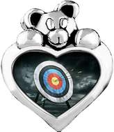 GiftJewelryShop Olympics Archery target Light Amethyst Crystal June Birthstone I Love You Heart Care Bear Charm Bracelets