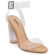 Wild Pair Women's Wild Pair Chat Clear Strap Heeled Quarter Strap Sandals - Tan