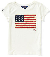 Ralph Lauren Little Girls 2T-6X Short-Sleeve Flag Tee