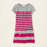 Children's Place Striped sequin sweater dress