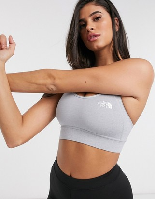 The North Face Bounce-B-Gone crop top in gray