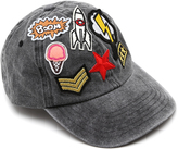 Steve Madden Gray Seven-Patch Washed Baseball Cap