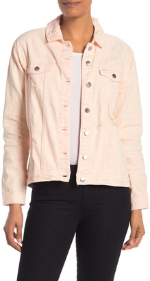 Rachel Roy Destructed Denim Jacket