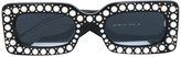 Gucci pearl embellished sunglasses - women - Acetate - 50