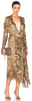 Preen by Thornton Bregazzi A Hayett Dress in Neutrals,Metallics,Floral.