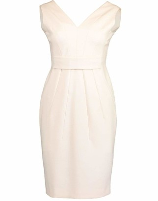 Versace Sleeveless V-Neck Logo Waist Dress