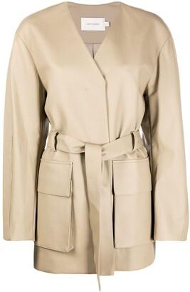 Low Classic Cargo Patch Pockets Wrap Jacket