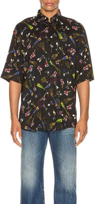 Balenciaga Short Sleeve Shirt in Black   FWRD