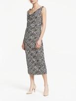 Winser London Soft Sleeveless Midi Dress, Leopard Print