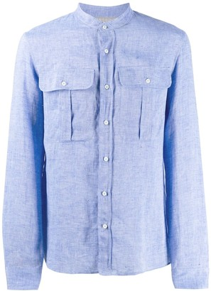 Brunello Cucinelli Band Collar Shirt