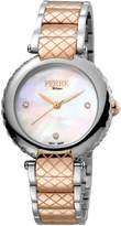 Ferré Milano Women's 34mm Stainless Steel 3-Hand Knurl Watch with Bracelet, Steel/Rose