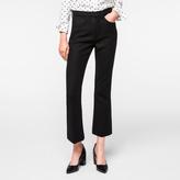 Paul Smith Women's Black Wool-Cashmere Kick-Flare Trousers