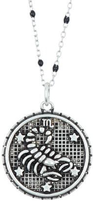 Argentovivo Sterling Silver Scorpio Zodiac Necklace