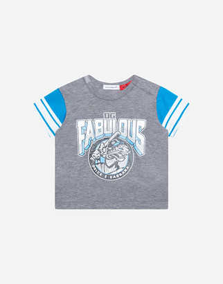 Dolce & Gabbana Jersey T-Shirt With Fabulous Print