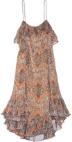 Zimmermann Harlequin Heriz Printed Crinkled Silk-georgette Dress - Orange