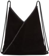 MM6 MAISON MARGIELA Black Velvet Backpack