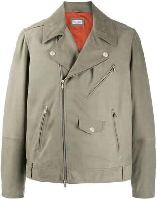 Brunello Cucinelli Zipped Biker Jacket