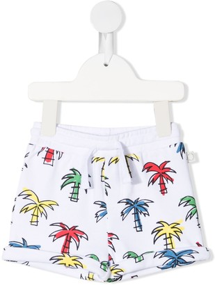 Stella McCartney Kids Palm Tree-Print Drawstring Shorts