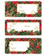 Container Store Holiday Plaid Gift Labels Pkg/36
