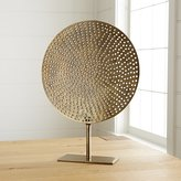 Crate & Barrel Brass Circle on Stand