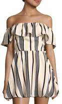 Lucca Couture Ruffled Off-The-Shoulder Dress