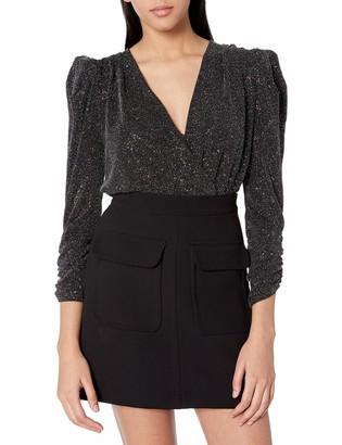 ASTR the Label Women's Moonlight Stretch Shimmer Knit Bodysuit